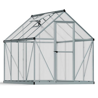 Palram Nature 6' x 8' Greenhouse - Silver Frame - Twin-Wall