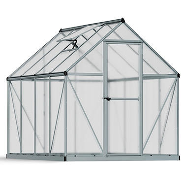 Nature 6' x 8' Greenhouse - Silver Frame - Twin-Wall
