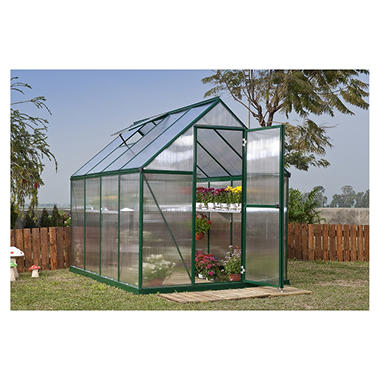 Nature 6' x 8' Greenhouse - Green Frame - Twin-Wall