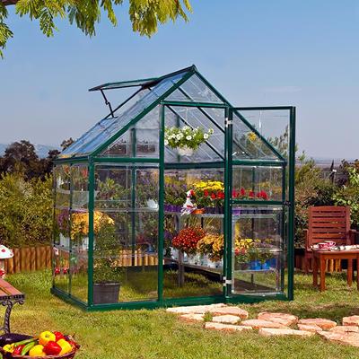Palram Harmony 6' x 4' Hobby Greenhouse - Green