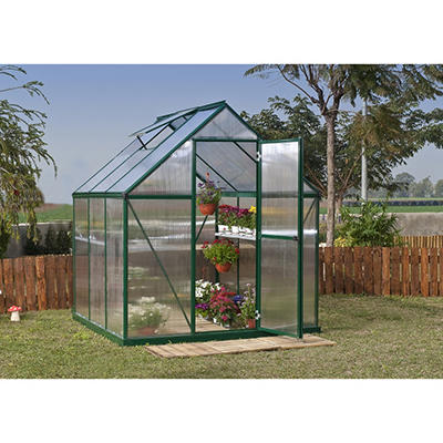 Palram Nature 6' x 6' Greenhouse - Green Frame - Twin-Wall