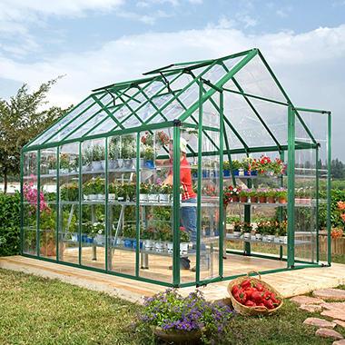 Palram Snap & Grow 8' x 12' Greenhouse - Green