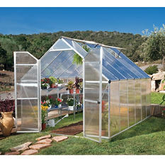 Essence 8' x 12' Hobby Greenhouse - Silver