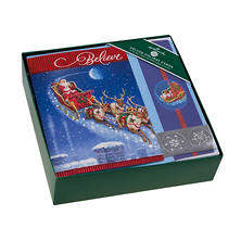 Hallmark Deluxe Traditional Boxed Holiday Cards - Santa Sleigh
