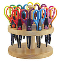 Kraft Edger Scissors in Hardwood Kaddy - 18 pc.