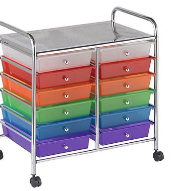 Colorful Mobile Organizer - 12 Drawers