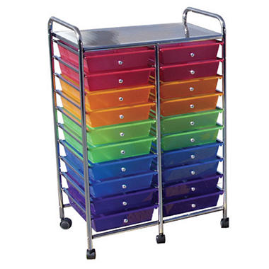 Colorful Mobile Organizer - 20 Drawers
