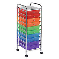 ECR4Kids Mobile Organizer, Assorted Colors - 10 Drawers