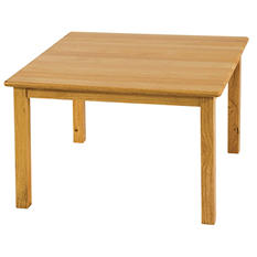 "ECR4Kids 30"" Square Hardwood Table, Select Type"