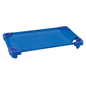 ECR4Kids Unassembled Stackable Standard Cots, Blue- 5 pack
