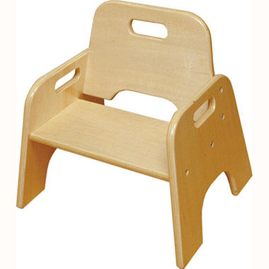 "6"" Hardwood Stackable Toddler Chair - 2 Pk"