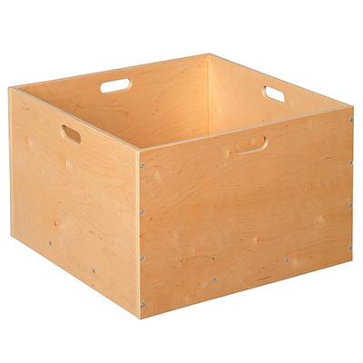 Wood Block Storage Cart w/Casters