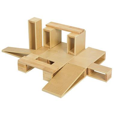 Hollow Wood Building Blocks Set - 18 pc.