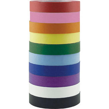 ECR4Kids KraftTape Refills, 10 Rolls of Assorted Colors per Pack, 12pk. (120 Total Rolls)