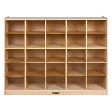 ECR4Kidw 25-Section Wood Cabinet with 25 Assorted Bins