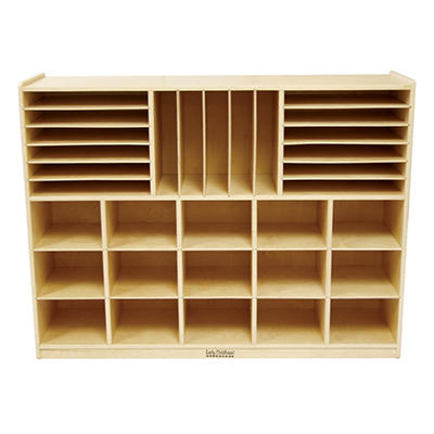 ECR4Kids Birch Multi-Section Storage Cabinet