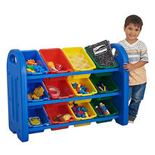 ECR4Kids 3-Tier Storage Organizer with Bins