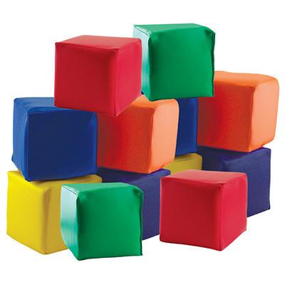 ECR4Kids Patchwork Toddler Blocks - 12 pk.