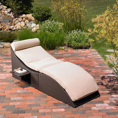 Mission Hills® St. Lucia Foldable Storage Chaise Lounge