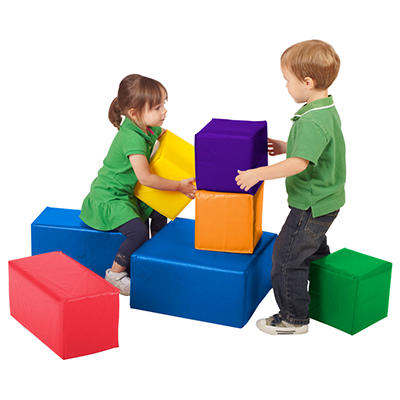 ECR4Kids SoftZone Foam Big Blocks Set - 7pc.