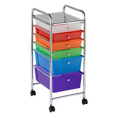 ECR4Kids 6-Drawer Mobile Organizer, Select Color