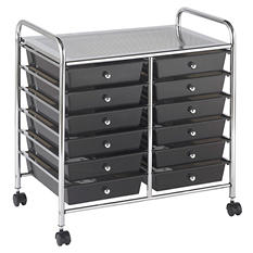 ECR4Kids 12 Drawer Mobile Organizer, Smoke