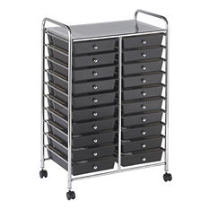 ECR4Kids 20 Drawer Mobile Organizer, Smoke