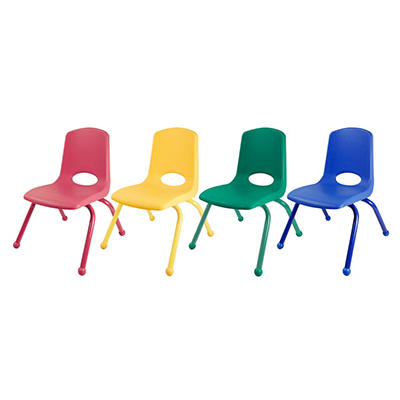 "Children's 12"" Stack Chair Matching Legs with Ball Glides - Assorted - 6 Pack"