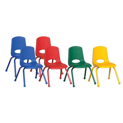 "Children's 14"" Stack Chair Matching Legs with Ball Glides - Assorted - 6 Pack"