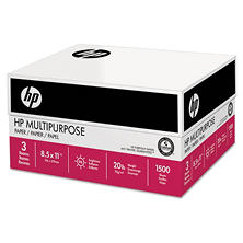 HP - Multipurpose Paper, 96 Brightness, 20 lb, 8 1/2 x 11, White -  1,500 Sheets/Carton