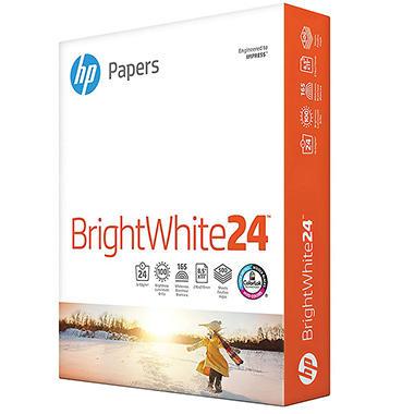 HP - Bright White Inkjet Paper, 24lb, 97 Bright, 8-1/2 x 11
