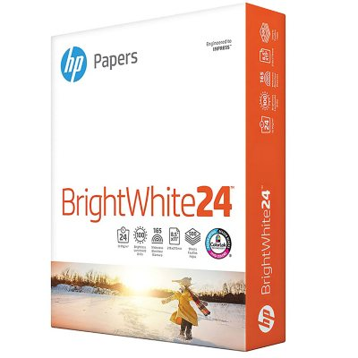 "HP - Bright White Inkjet Paper, 24lb, 97 Bright, 8-1/2 x 11"" - Ream"