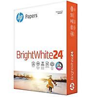 HP Bright White Inkjet Paper, 24lb, 97 Bright, 8 1/2 x 11, 500 Sheets/Ream