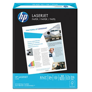 HP LaserJet Paper, 24lb, 98 Bright, 8 1/2 x 11, Ultra White, -  500 Sheets/Ream