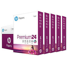 HP LaserJet Paper, 24lb, 97 Bright, Letter, Ultra White, 2500 Sheets/Carton