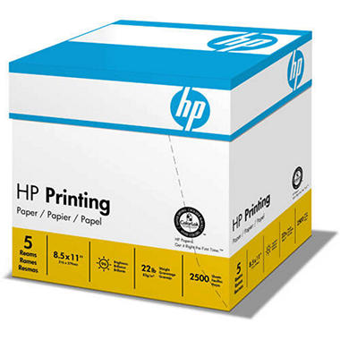 "HP - Printing Multipurpose Paper, 22lb, 96 Bright, 8-1/2 x 11"" - Half Case"