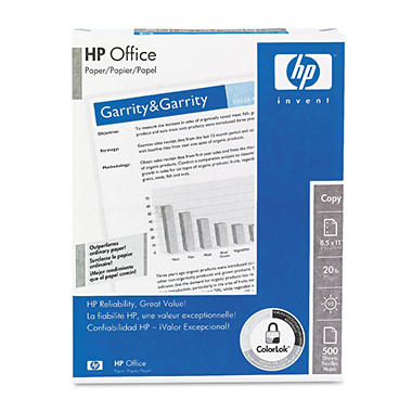 HP - Office Paper, 20lb, 92 Bright, 3-Hole Punched - Ream
