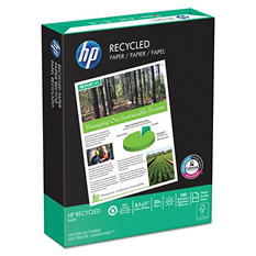 HP Office Recycled Paper, 20lb, 92 Bright, 8 1/2 x 11, White, 5000 Sheets/Carton