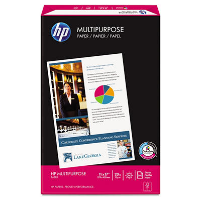 "HP - Multipurpose Paper, 20lb, 96 Bright, 11 x 17"" - Ream"