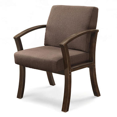 Holden Collection Guest Chair - Two-tone brown & black upholstery