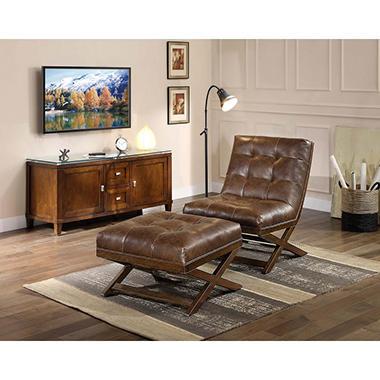 Marston Chair and Ottoman