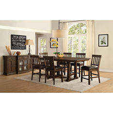 Hendricks Counter-Height Table and Chairs, 9-Piece Dining Set