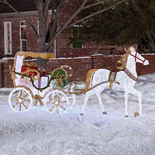 Member's Mark Stately Horse and Carriage Outdoor Decor