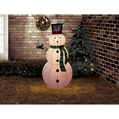 6 ft Pre-Lit Outdoor Pop-Up Snowman