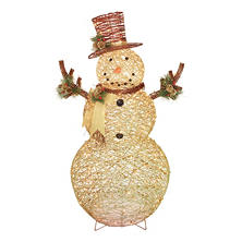 "Member's Mark 60"" Illuminated Grapevine Snowman"