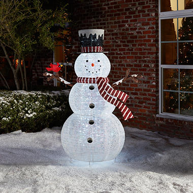 Member S Mark 72 Quot Pop Up Snowman With Cardinal Sam S Club
