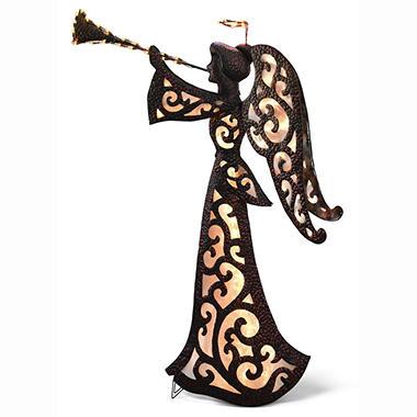 Metal Glitter Glow Trumpet Angel - 68
