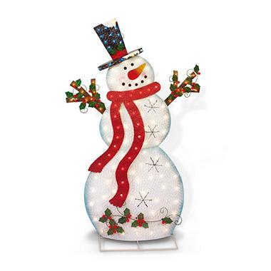 "60"" Lighted Metal Snowman"