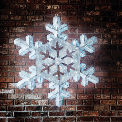 """2D LED Snowflake with 6 Functions and Remote Control - 43"""""""