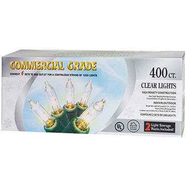 UL Commercial Grade Clear Lights - 400ct